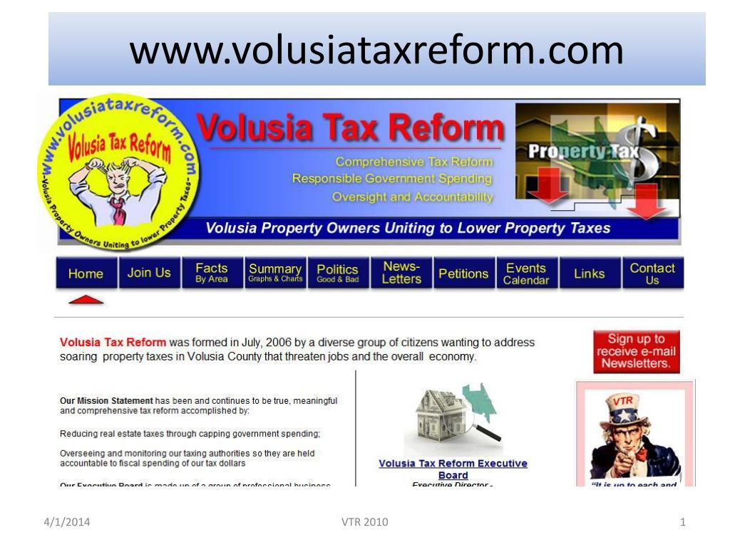 www volusiataxreform com
