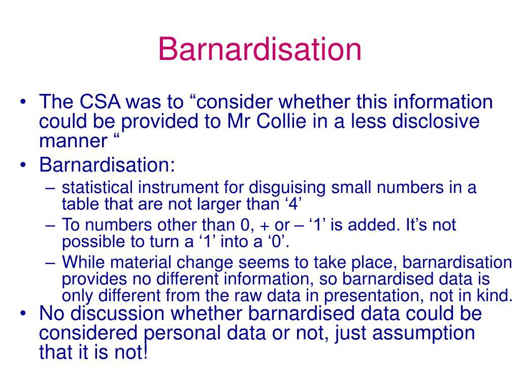 Barnardisation