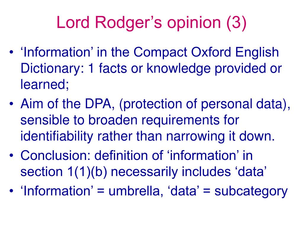 Lord Rodger's opinion (3)