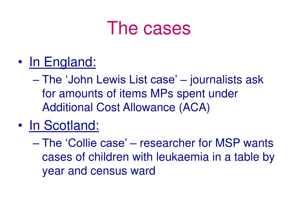 The cases