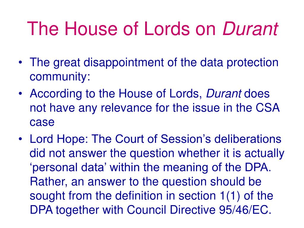 The House of Lords on