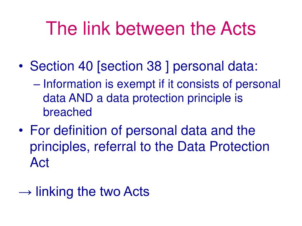 The link between the Acts