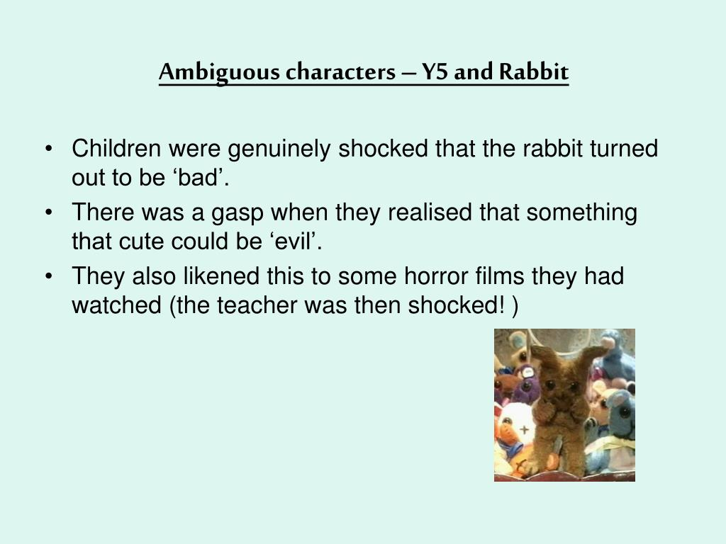 Ambiguous characters – Y5 and Rabbit
