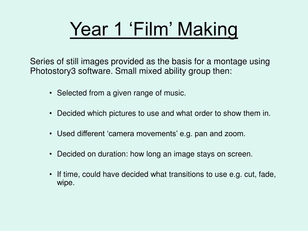 Year 1 'Film' Making