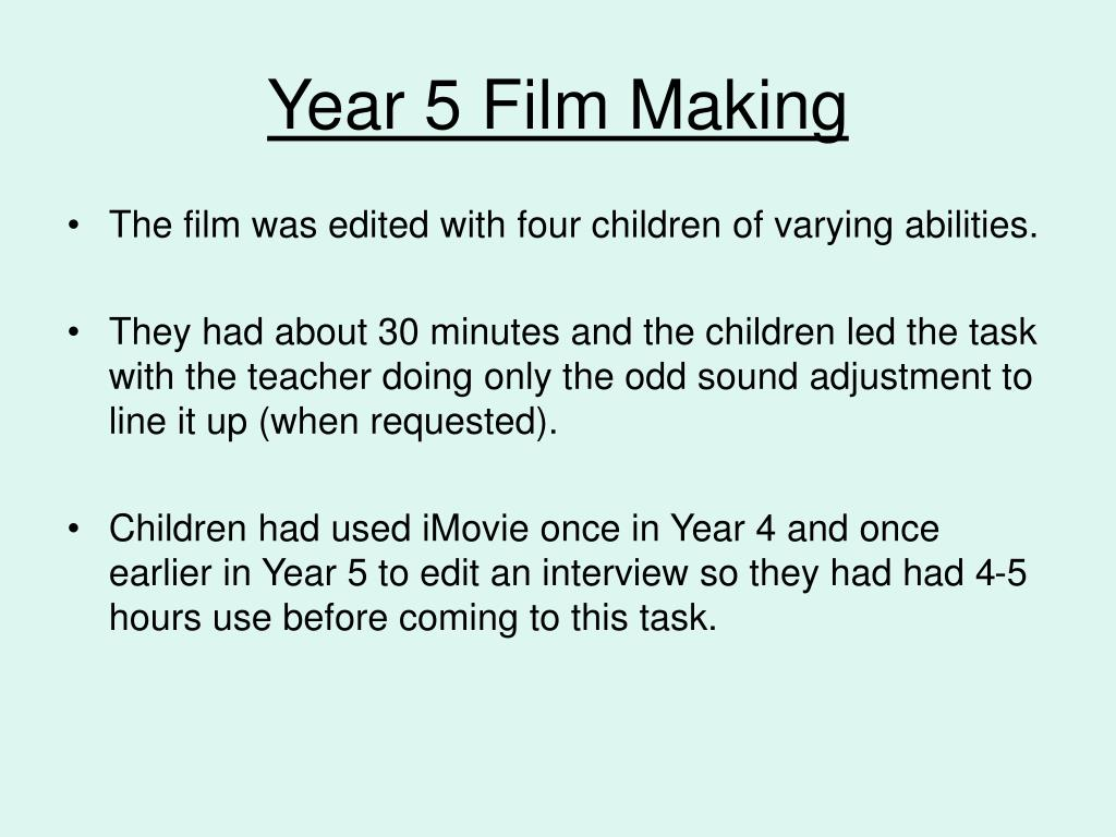Year 5 Film Making
