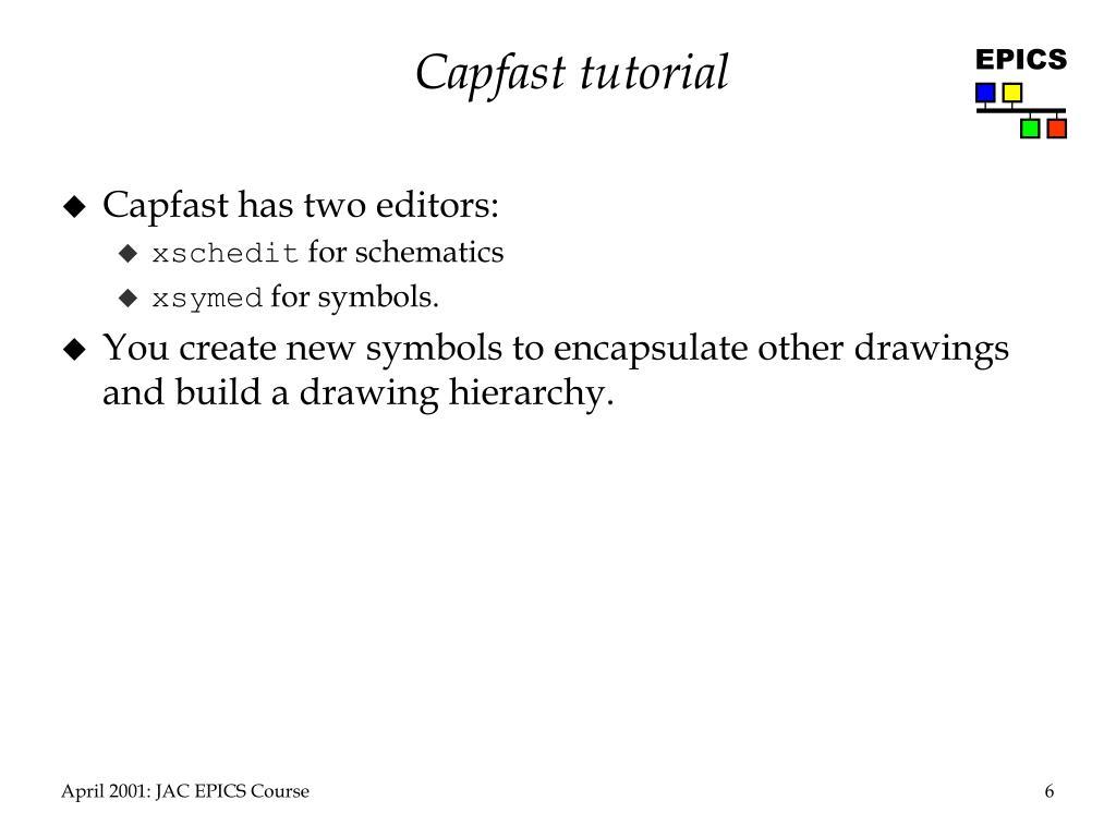 Capfast tutorial