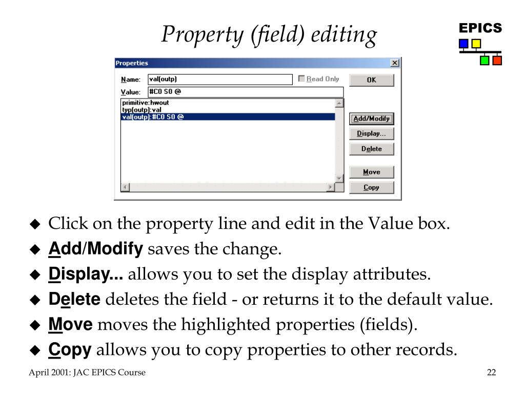 Property (field) editing