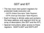 gdt and idt