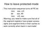 how to leave protected mode