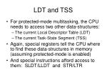 ldt and tss