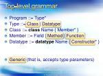top level grammar