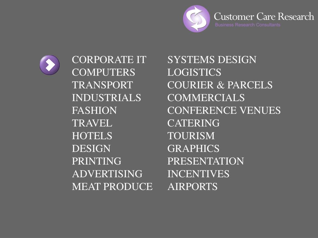 CORPORATE IT	SYSTEMS DESIGN COMPUTERS	LOGISTICS
