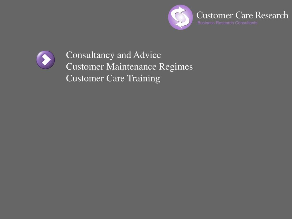 Consultancy and Advice