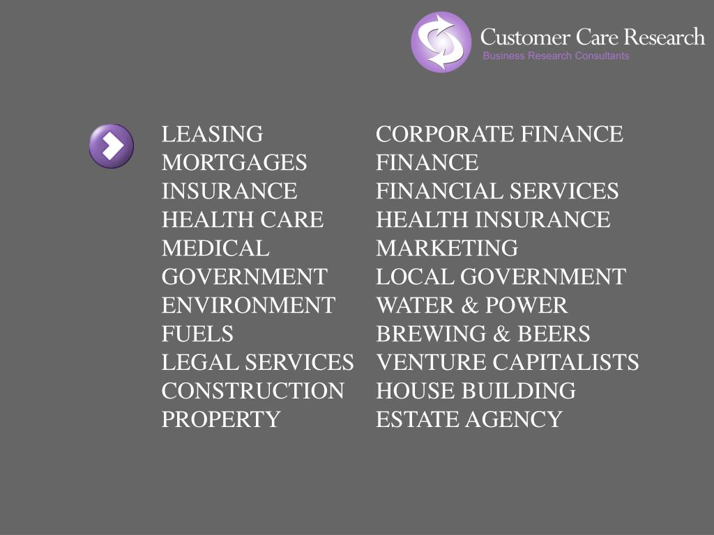 LEASING		CORPORATE FINANCE MORTGAGES	FINANCE