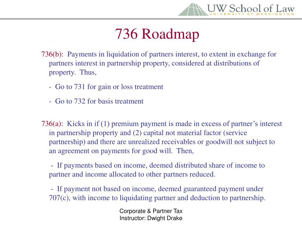 736 Roadmap