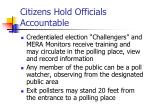 citizens hold officials accountable