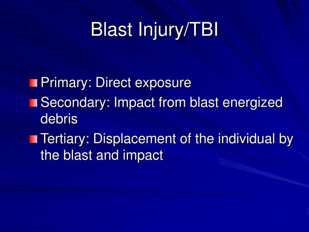 Blast Injury/TBI