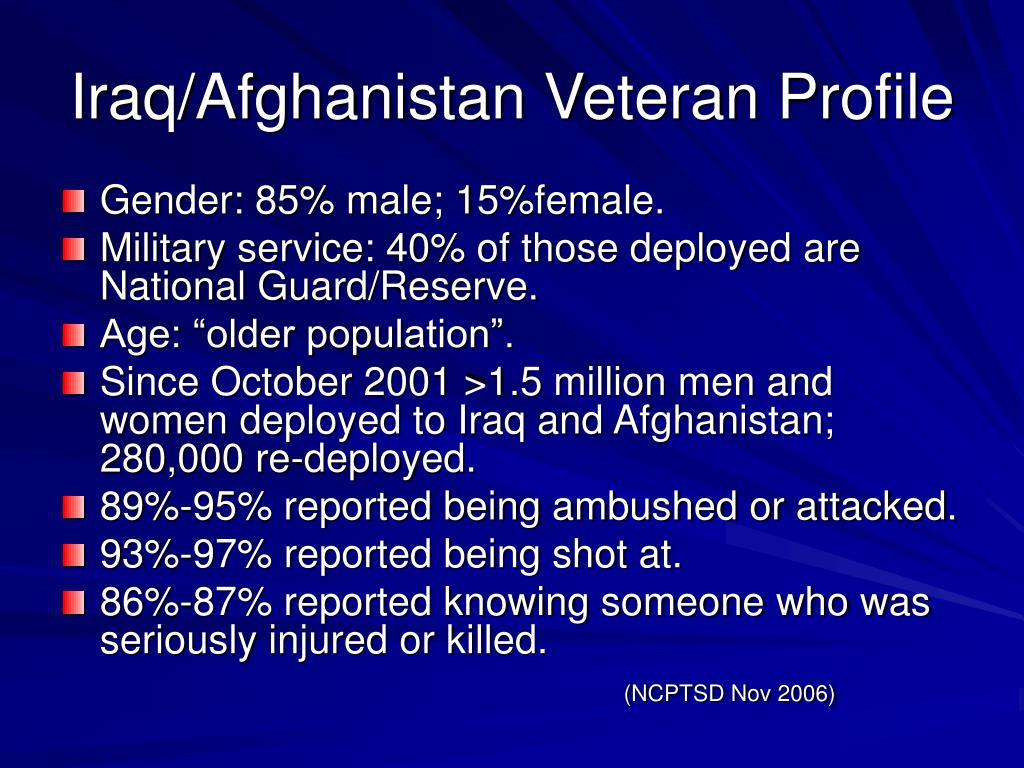 Iraq/Afghanistan Veteran Profile