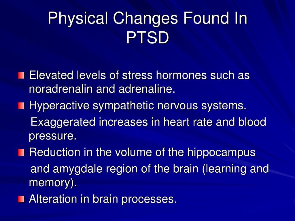 Physical Changes Found In