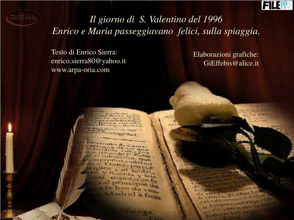 Il giorno di  S. Valentino del 1996