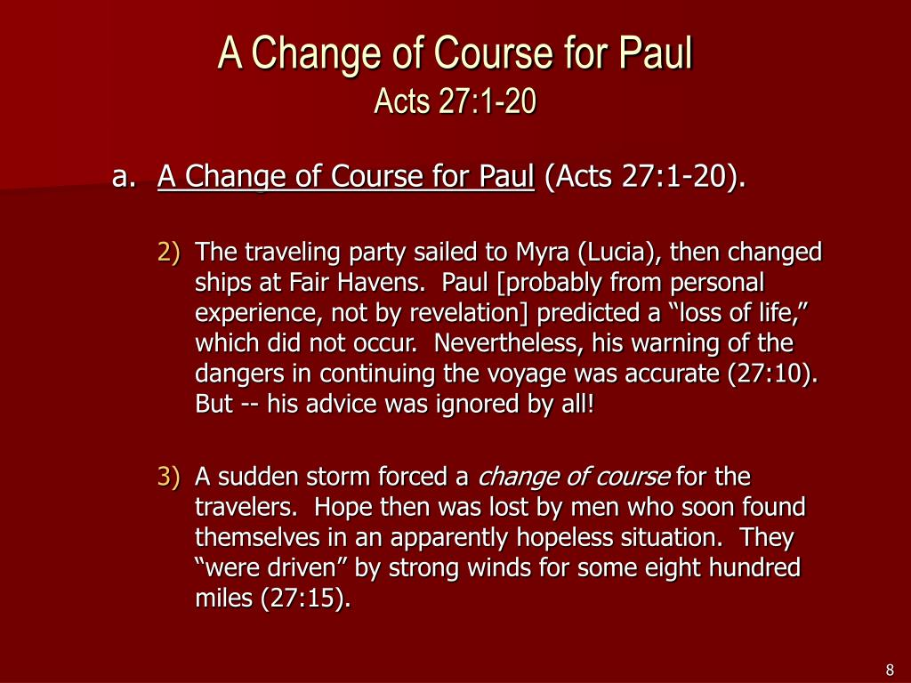 A Change of Course for Paul