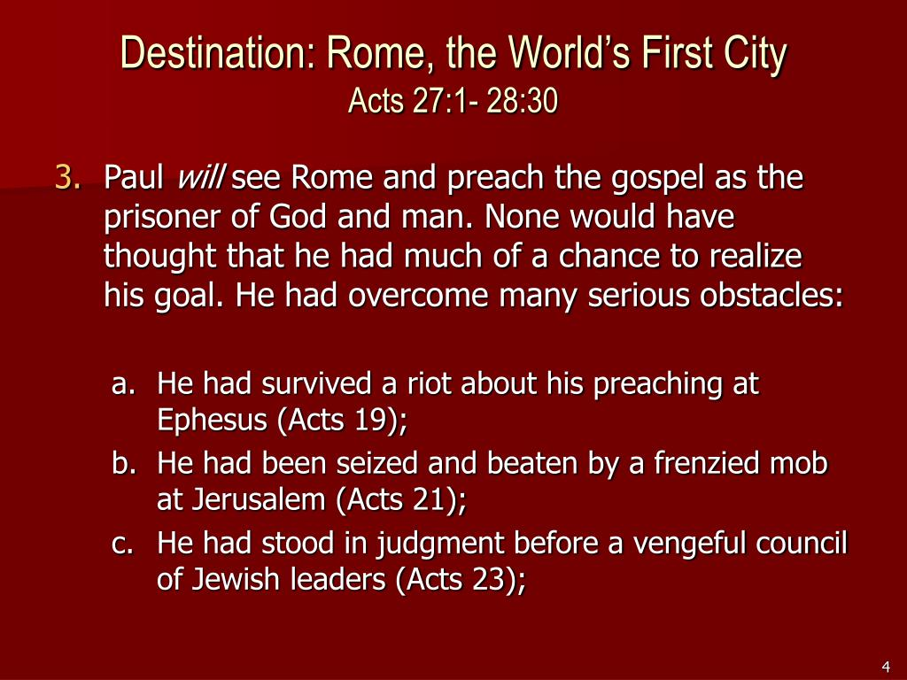 Destination: Rome, the World's First City