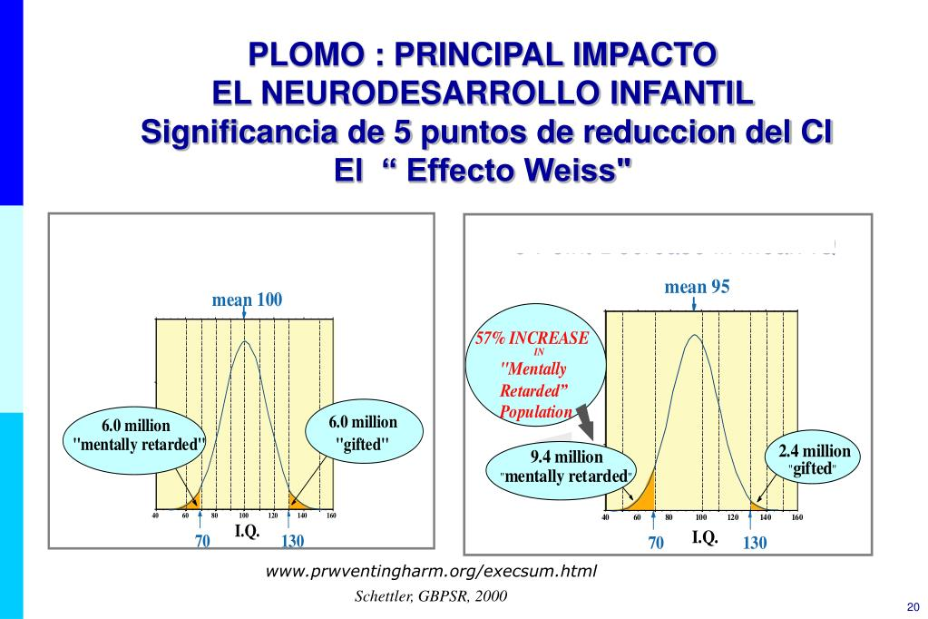 PLOMO : PRINCIPAL IMPACTO