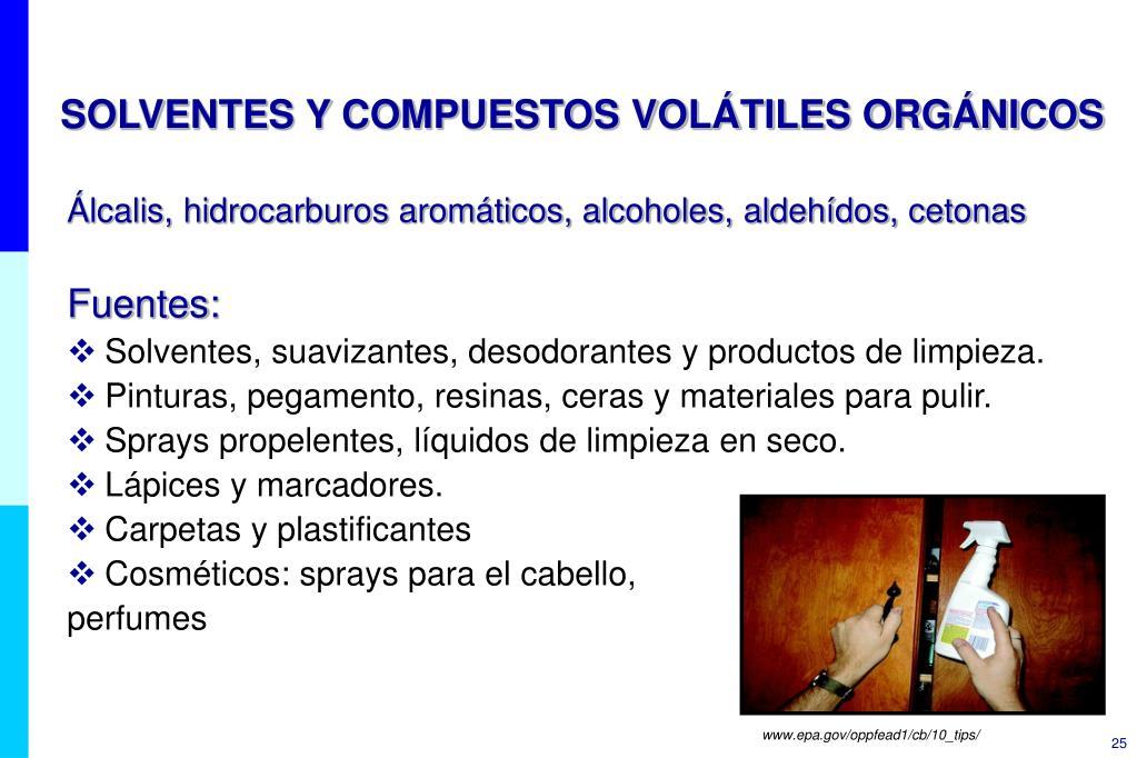 SOLVENTES Y COMPUESTOS VOLÁTILES ORGÁNICOS