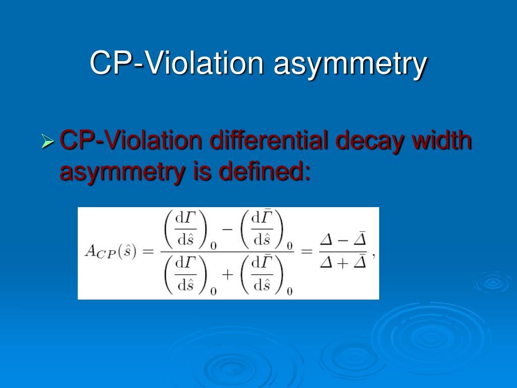 CP-Violation asymmetry