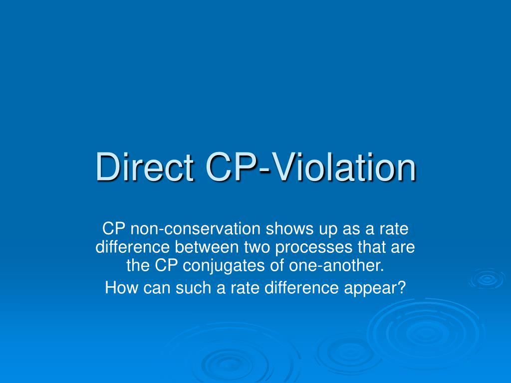 Direct CP-Violation