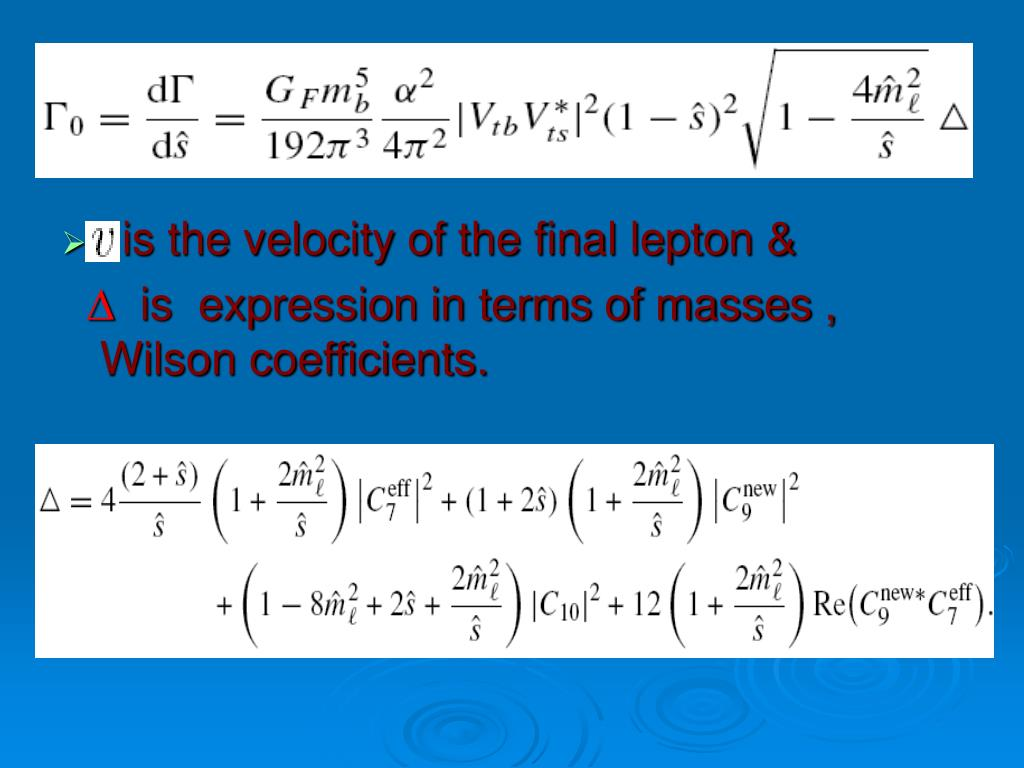 is the velocity of the final lepton &