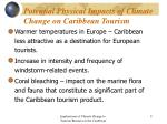 potential physical impacts of climate change on caribbean tourism