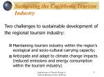 sustaining the caribbean tourism industry8