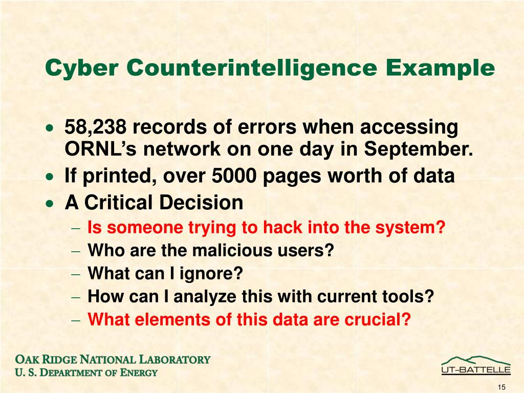 Cyber Counterintelligence Example