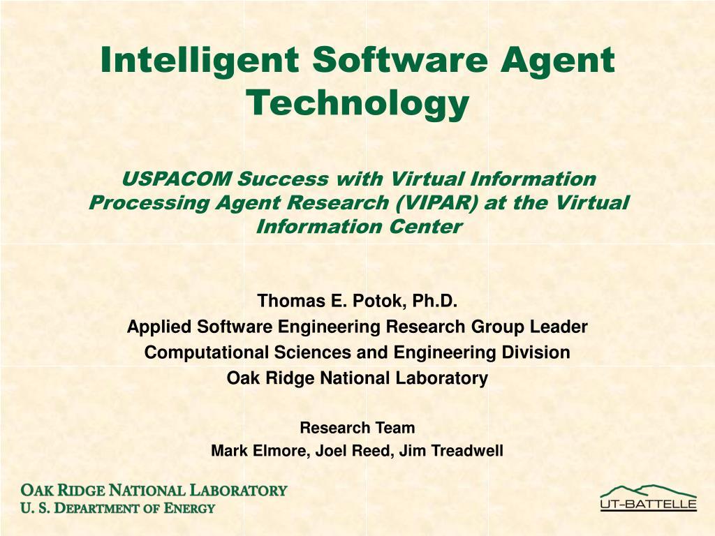 Intelligent Software Agent Technology