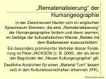 rematerialisierung der humangeographie