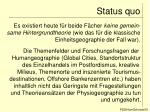 status quo9