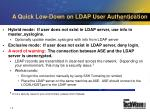 a quick low down on ldap user authentication