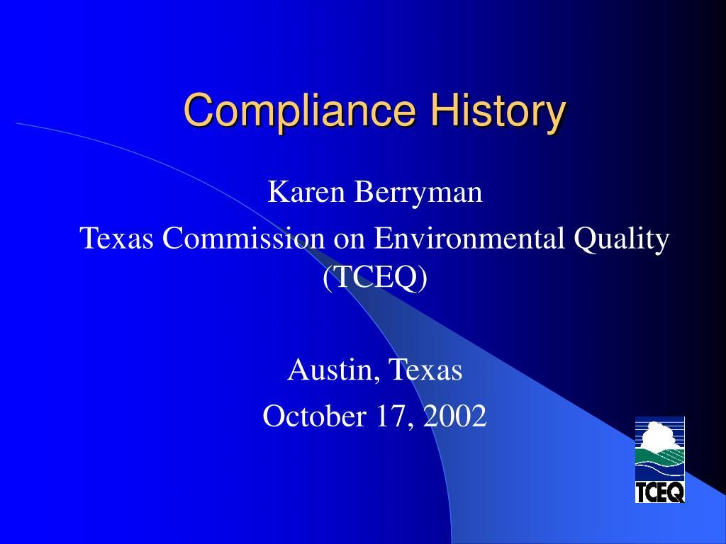 compliance history