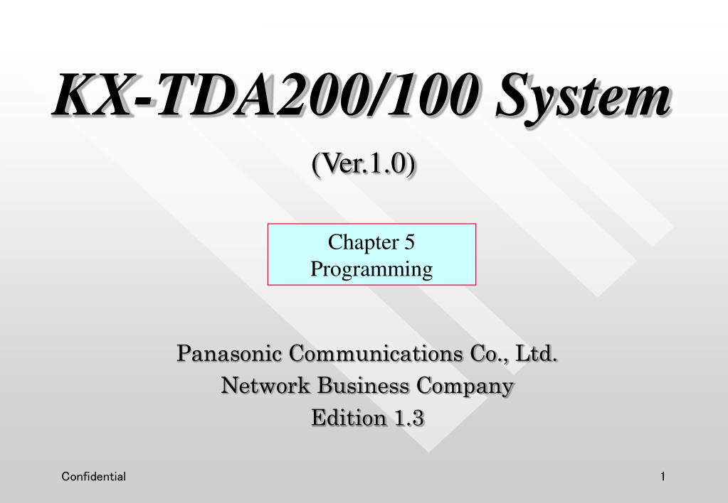 kx tda200 100 system ver 1 0