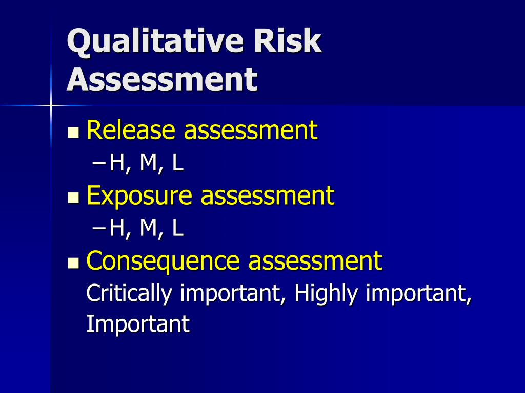 Qualitative Risk Assessment