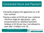 contracted hours and payment