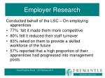 employer research