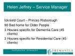 helen jeffrey service manager