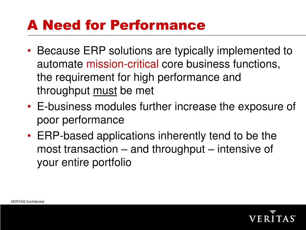 A Need for Performance