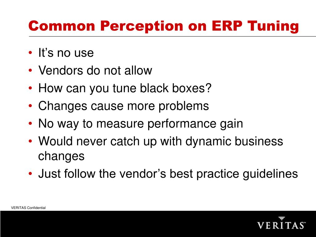 Common Perception on ERP Tuning
