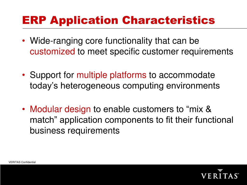 ERP Application Characteristics