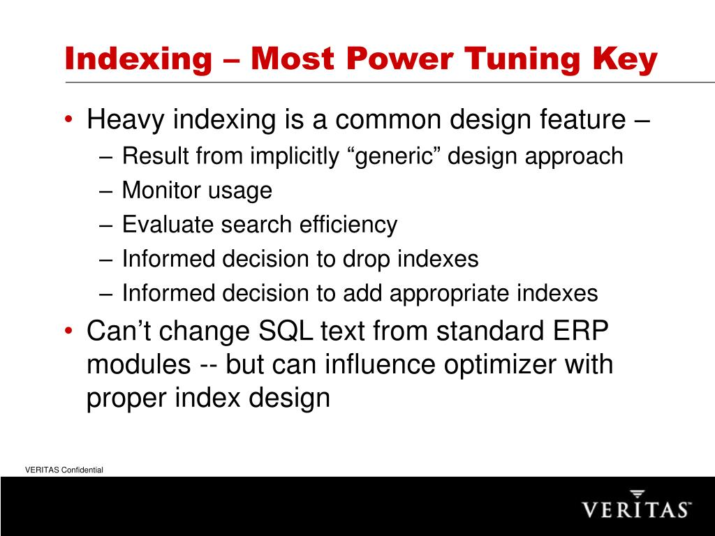 Indexing – Most Power Tuning Key