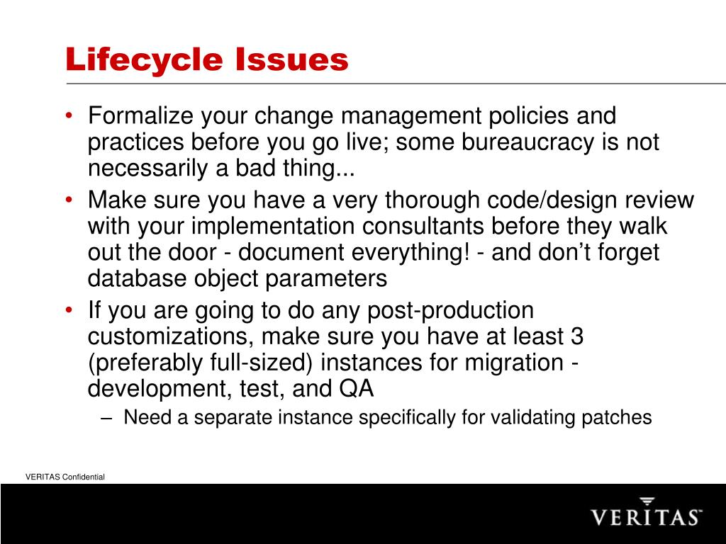 Lifecycle Issues