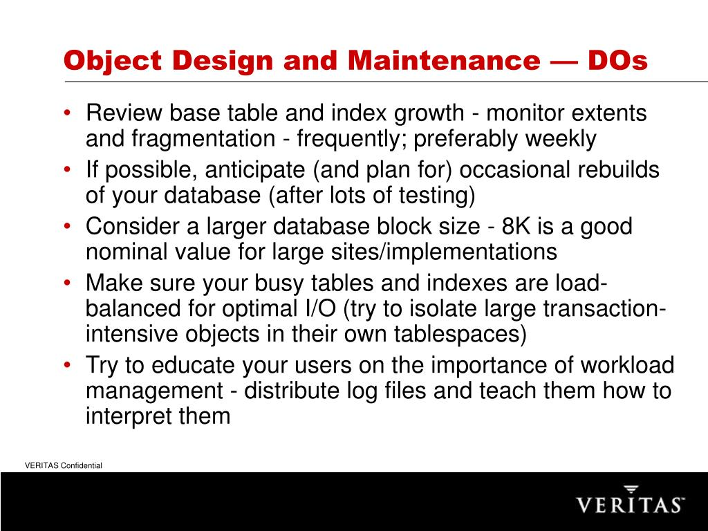 Object Design and Maintenance — DOs